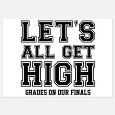 Let's All Get High Grades On Our Finals Invitations