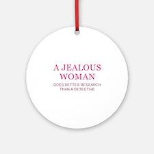 A Jealous Woman Ornament (Round)