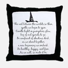 Samhain Blessings Throw Pillow