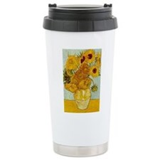 Vincent Van Gogh Sunflower Painting Travel Mug