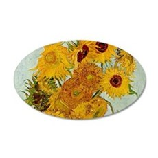 Vincent Van Gogh Sunflower Painting Wall Decal