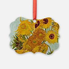 Vincent Van Gogh Sunflower Painting Ornament
