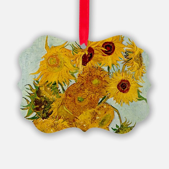 Vincent Van Gogh Sunflower Painting Ornament