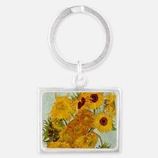 Vincent Van Gogh Sunflower Painting Keychains