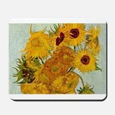 Vincent Van Gogh Sunflower Painting Mousepad