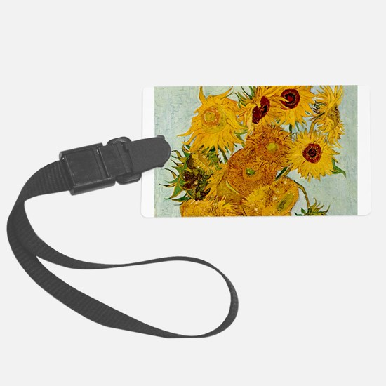 Vincent Van Gogh Sunflower Painting Luggage Tag