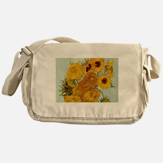 Vincent Van Gogh Sunflower Painting Messenger Bag