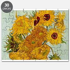 Vincent Van Gogh Sunflower Painting Puzzle