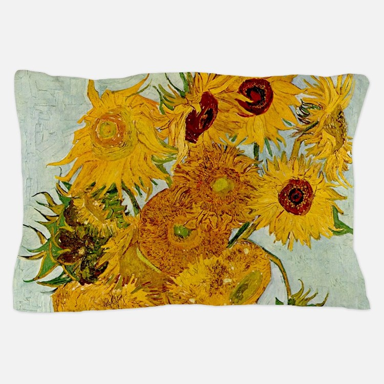 Vincent Van Gogh Sunflower Painting Pillow Case