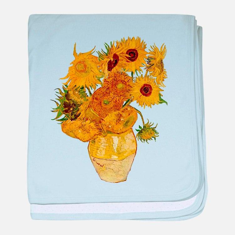 Vincent Van Gogh Sunflower Painting baby blanket