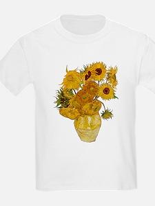 Vincent Van Gogh Sunflower Painting T-Shirt