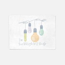 Brightest Bulb Strand 5'x7'Area Rug