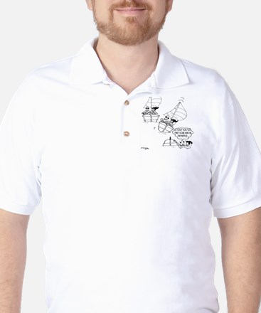 Sailing Cartoon 7510 Golf Shirt