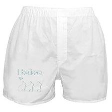 I believe in bunnies Boxer Shorts