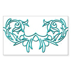 Scroll Design 4 Rectangle Decal