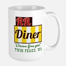 Double RR Diner in Twin Peaks Large Mug