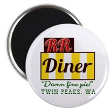 "Double RR Diner in Twin Pea 2.25"" Magnet (10 pack)"
