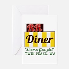 Double RR Diner in Twin Greeting Cards (Pk of 10)