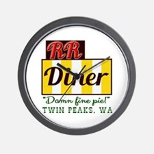 Double RR Diner in Twin Peaks Wall Clock