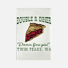 Twin Peaks Cherry Pie Diner Rectangle Magnet