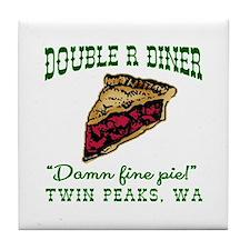 Twin Peaks Cherry Pie Diner Tile Coaster