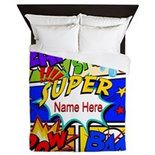 Superhero Comic Book Queen Duvet