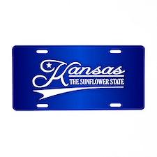 Kansas State of Mine Aluminum License Plate