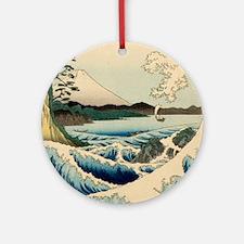 Japanese Vintage Art Sea of Satta Hiroshige Orname