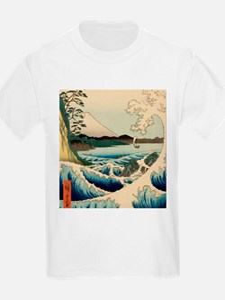 Japanese Vintage Art Sea of Satta Hiroshige T-Shir