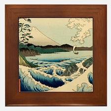 Japanese Vintage Art Sea of Satta Hiroshige Framed