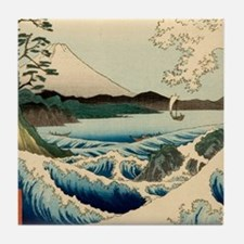 Japanese Vintage Art Sea of Satta Hiroshige Tile C