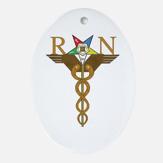 OES Registered Nurses Oval Ornament