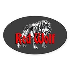 Red Wolf Decal