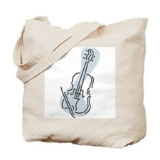 Violin Tote Bag (Blue)