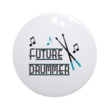 Future Drummer Ornament (Round)