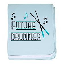Future Drummer baby blanket