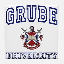 GRUBE University Tile Coaster