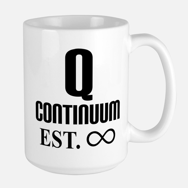 Q Infinity Star Trek TNG Mugs