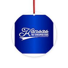 Kansas State of Mine Ornament (Round)