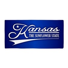 Kansas State of Mine Beach Towel