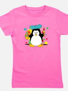 Artistic Penguin Girl's Tee
