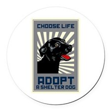 Choose Life Round Car Magnet