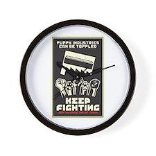 Keep Fighting Wall Clock
