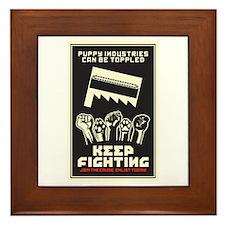 Keep Fighting Framed Tile