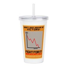 Fight For Victory Acrylic Double-wall Tumbler
