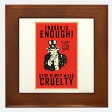 Stop Puppy Mills Framed Tile