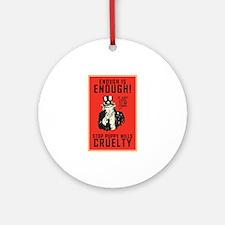 Stop Puppy Mills Ornament (Round)