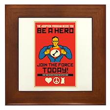 Be A Hero Framed Tile