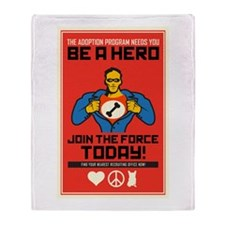 Be A Hero Throw Blanket