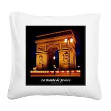 The Beauty of France:Arch de Square Canvas Pillow
